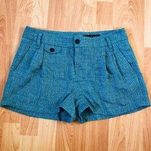 Rag and Bone blue tweed Harper shorts